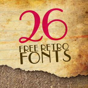 26 Beautiful Free Retro Fonts ...