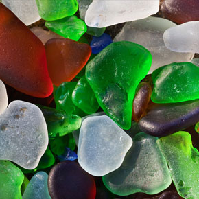 Unusual Glass Beach in California