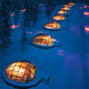 Glass Igloo Village in Finland
