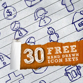 30 Free Hand Drawn Icon Sets