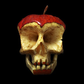 Carved Fruit and Vegetable Skulls by Dimitri Tsykalov