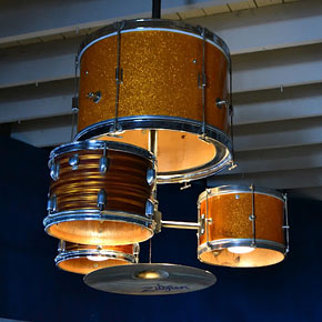 DIY Drum Kit Chandelier