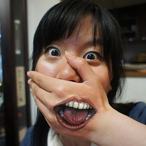 Creepily Realistic Body Art by Chooo-San