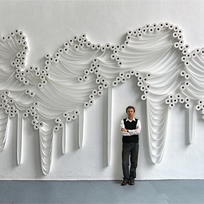 Toilet Paper Rolls Turned Into Art by Sakir Gökcebag