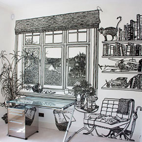 Amazing Marker-drawn Wall Murals by Charlotte Mann