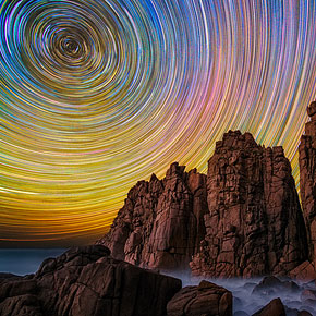 Breathtaking Australian Star Trails by Lincoln Harrison