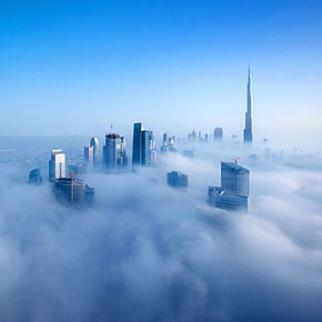 Dubai Photographed From 85th Floor Looks Like Cloud City