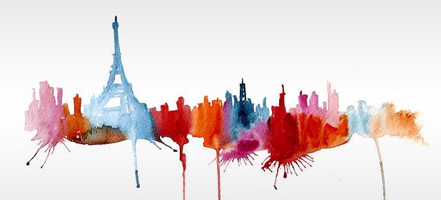 Watercolor Cityscape Drawings By Elena Romanova