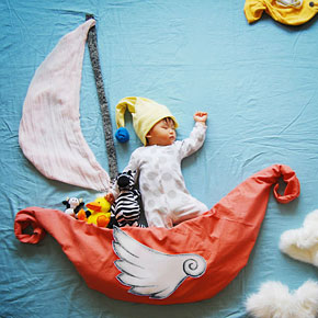 Sleeping Baby Goes on Imaginative Dream Adventures in His Creative Mother's Photos