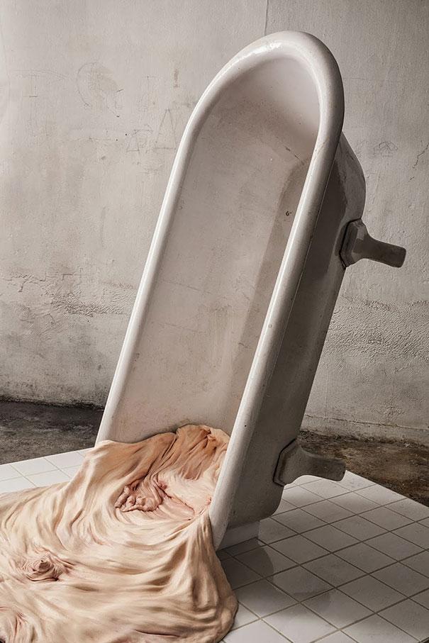 Creepy human skin sculptures by francesco albano