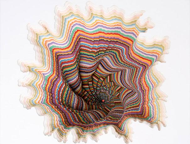 concertina paper sculpture 2 by elodole on DeviantArt