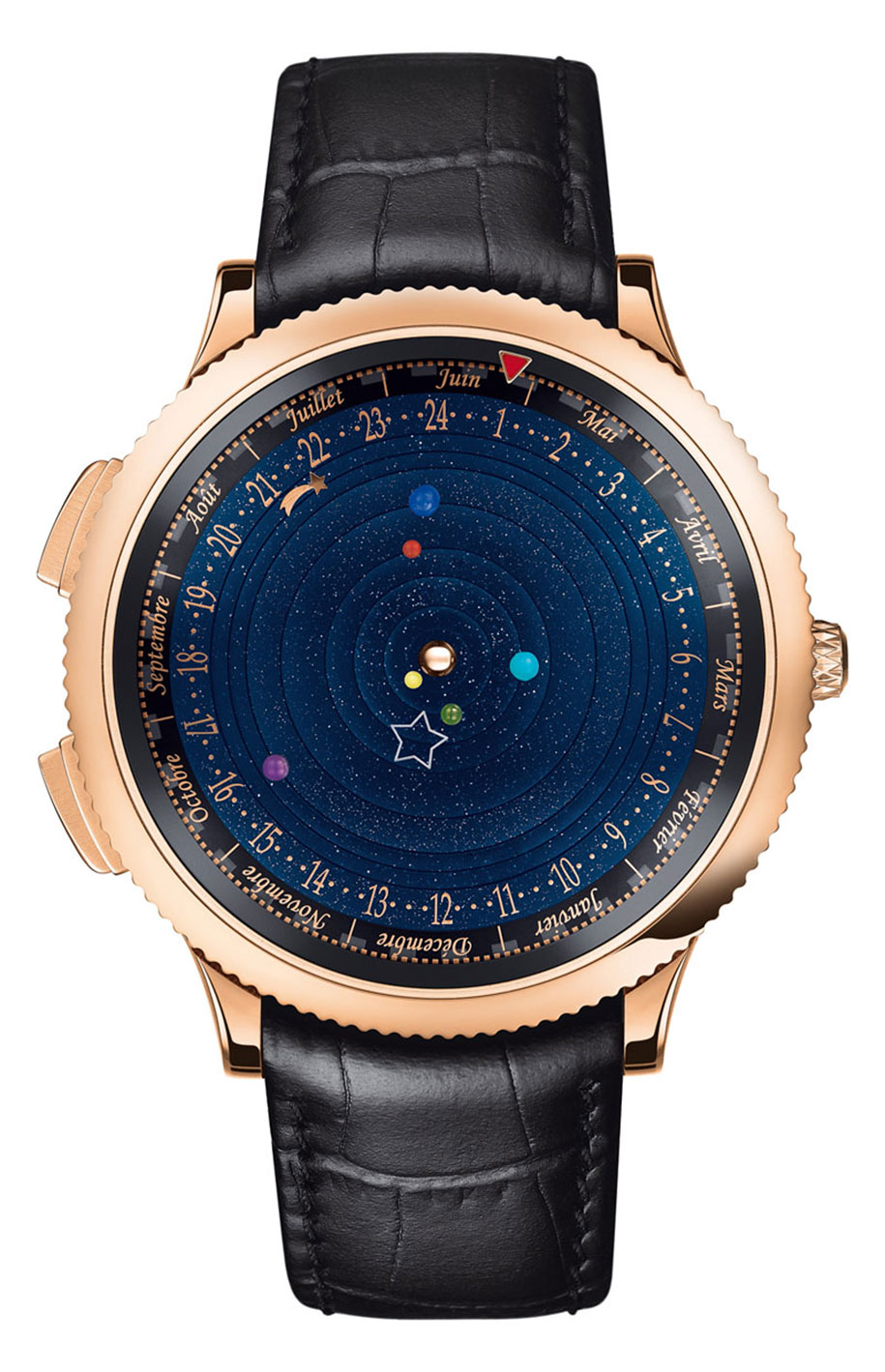 astronomical watch accurately shows the solar system�s