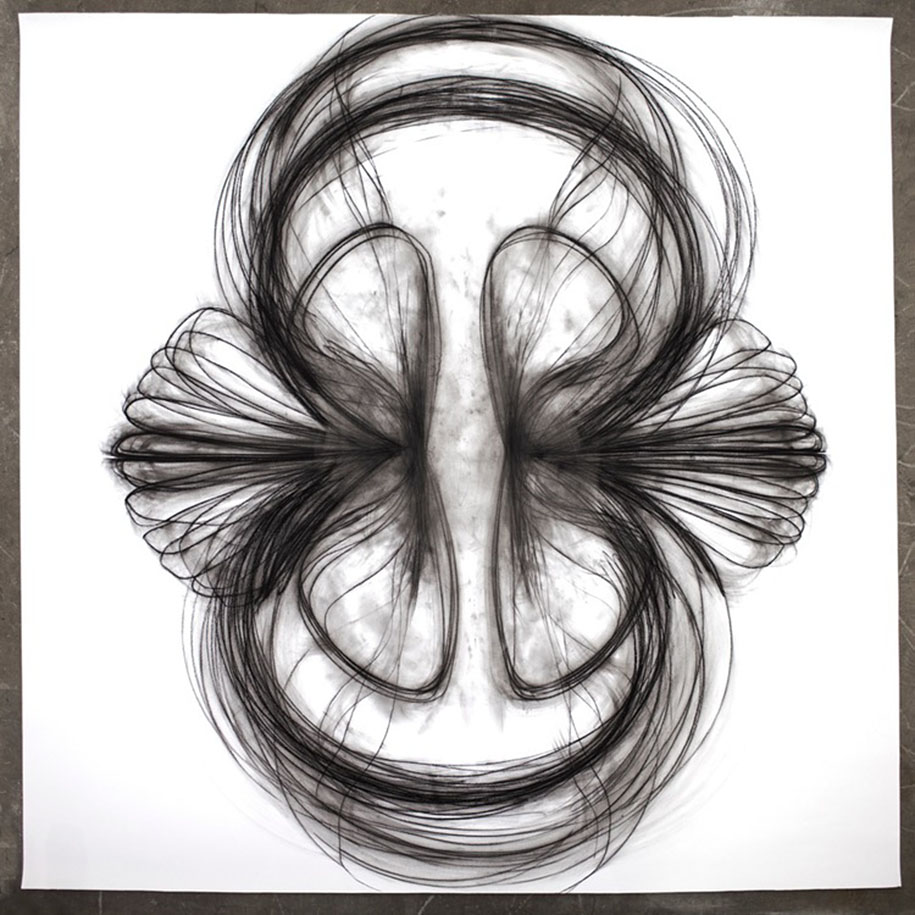 artist uses dance movements to create stunning charcoal