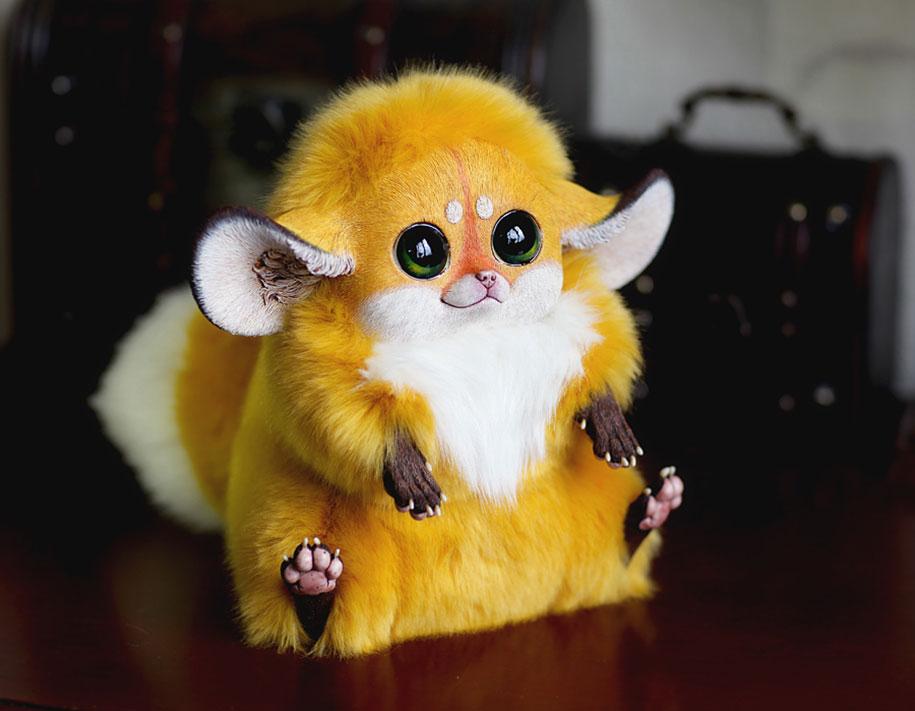 young russian artist creates adorably creepy fantasy dolls
