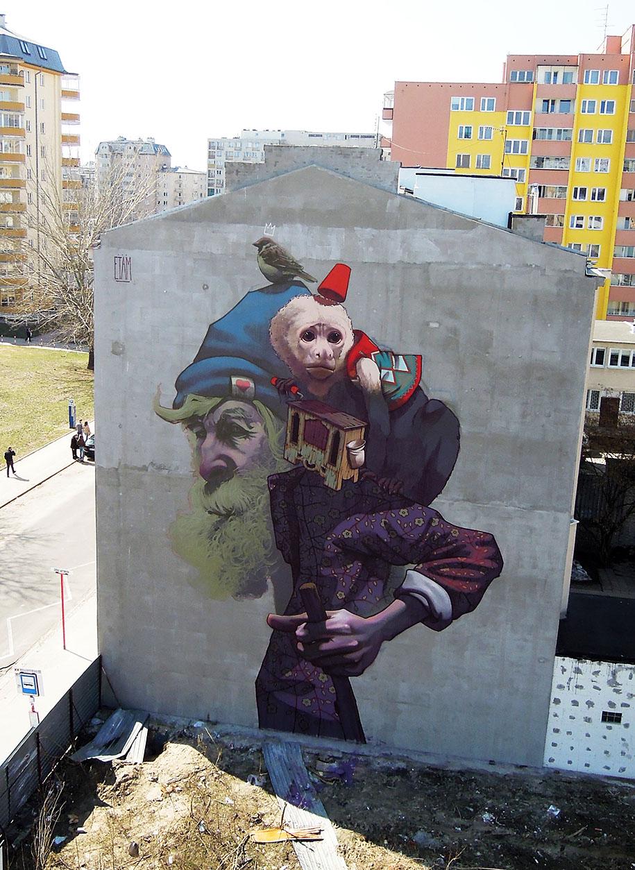 Etam Cru Brightens City Walls With Epic Colorful Street ...