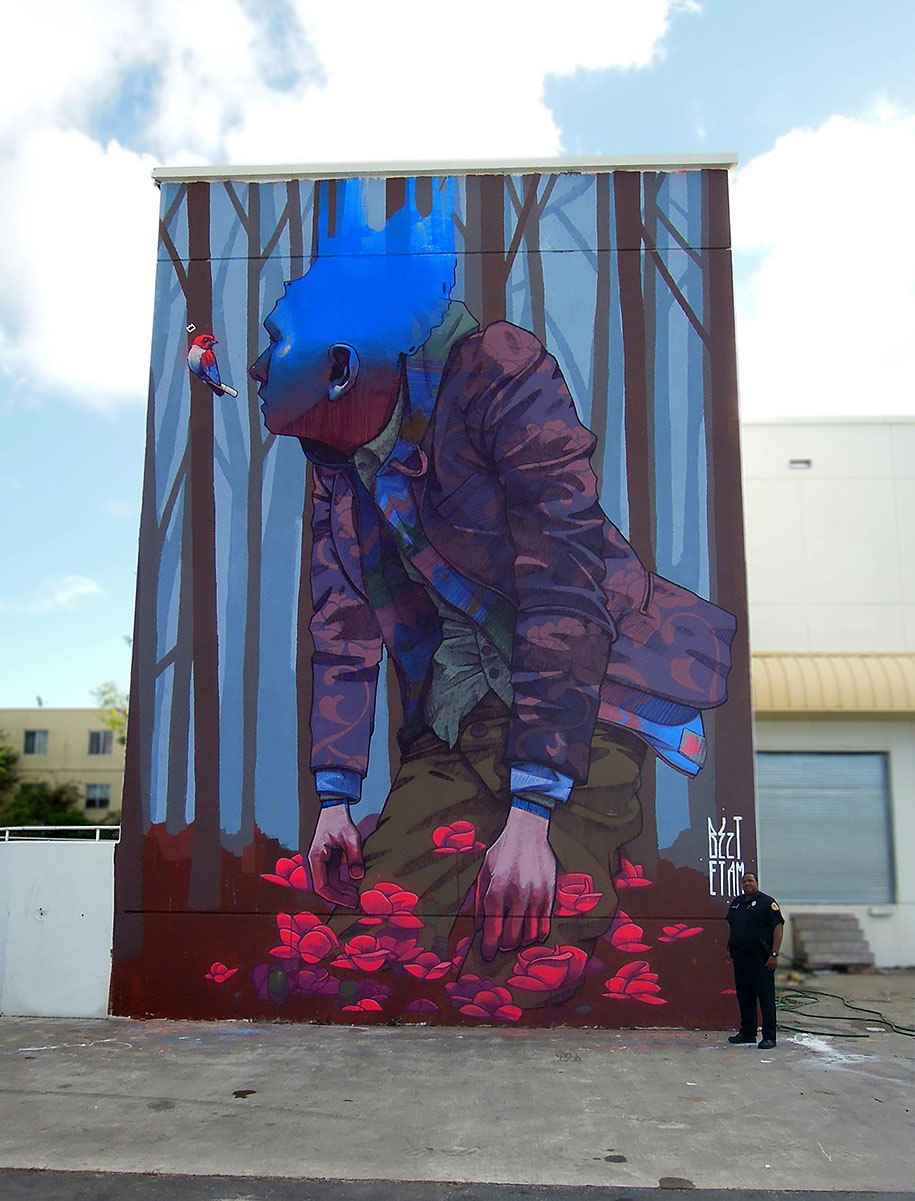 Etam cru brightens city walls with epic colorful street for Best mural artist