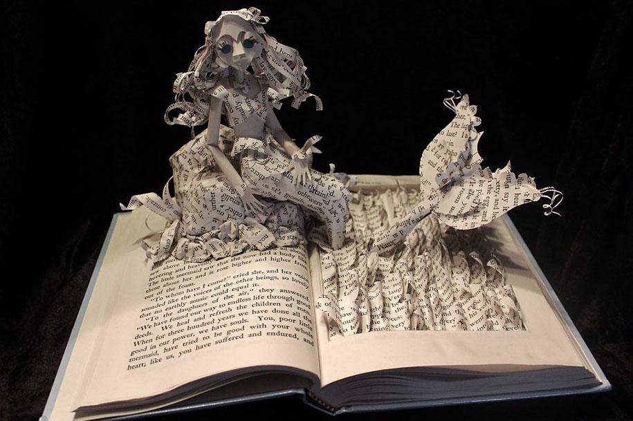 Historier fra bøger kommer til live i papirskulpturer af Jodi Harvey-Brown Demilked-3495
