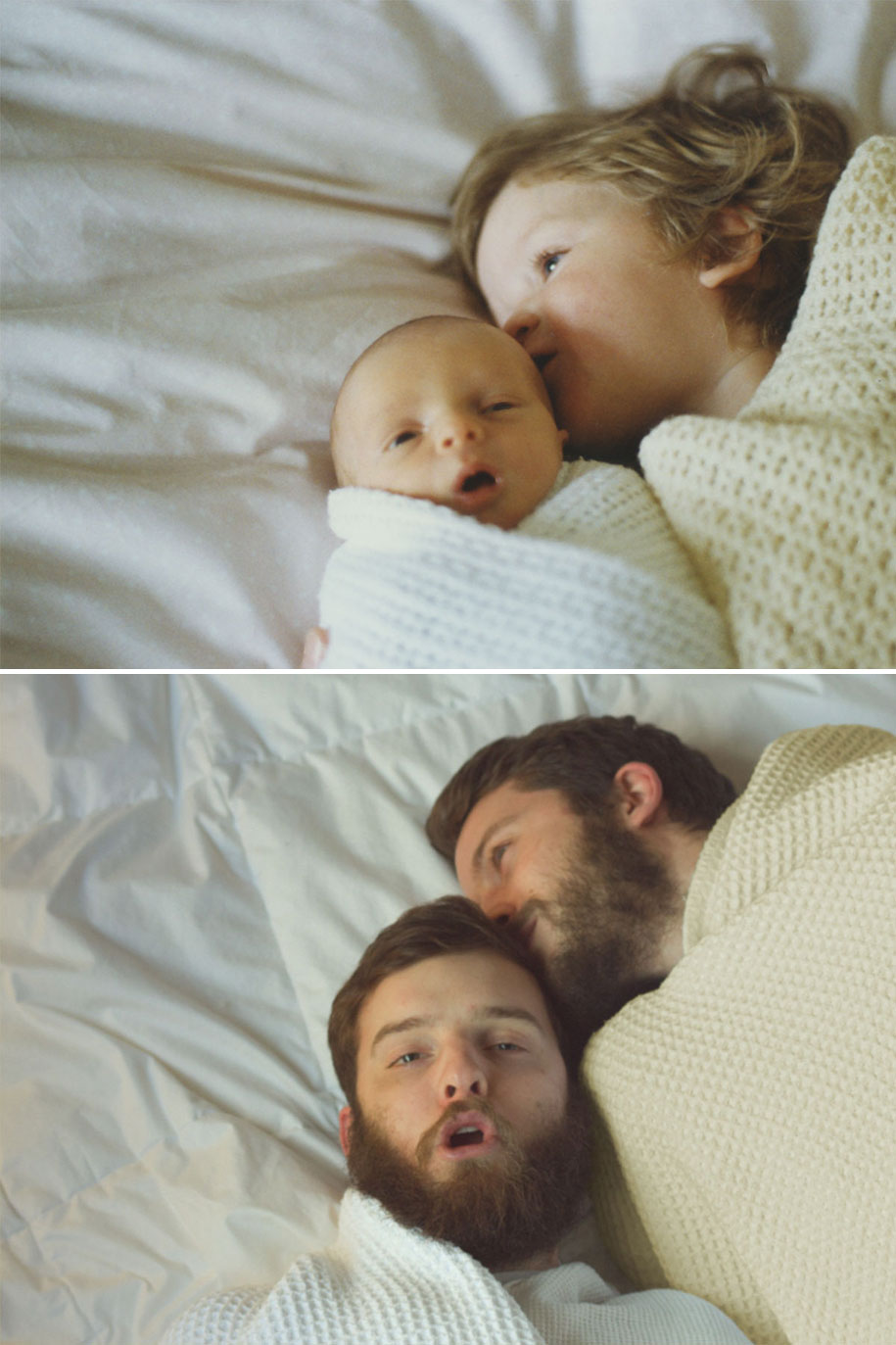 Two Brothers Re-Create Childhood Photos As A Priceless Gift To Their Mother