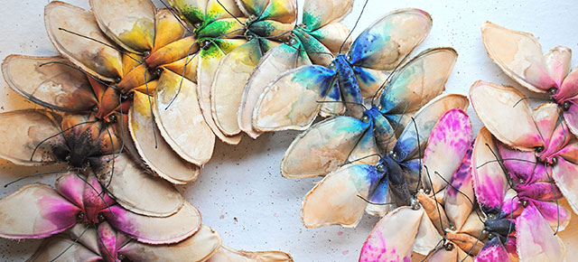 Beautiful Flora And Fauna Made From Vintage Fabrics By Self Taught