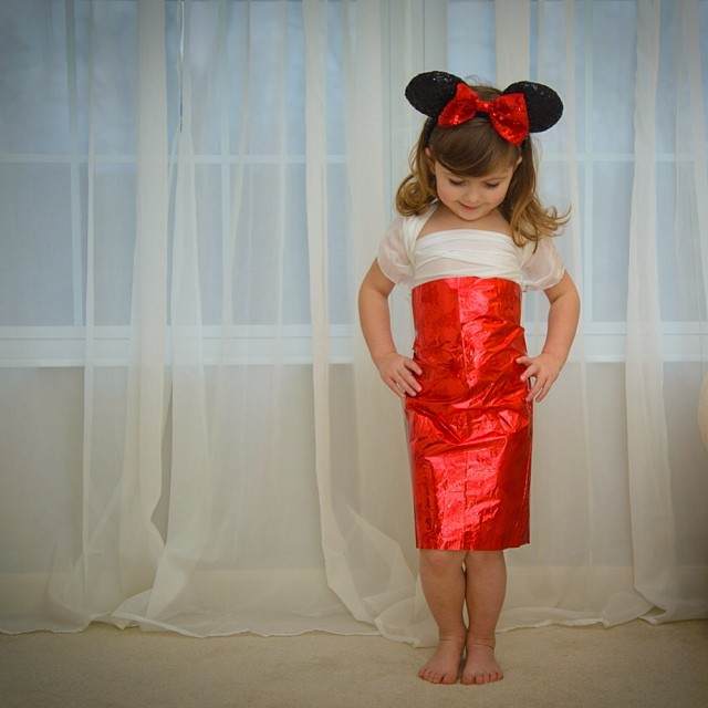 4-Year Old Girl Creates Stylish Paper Dresses Together With
