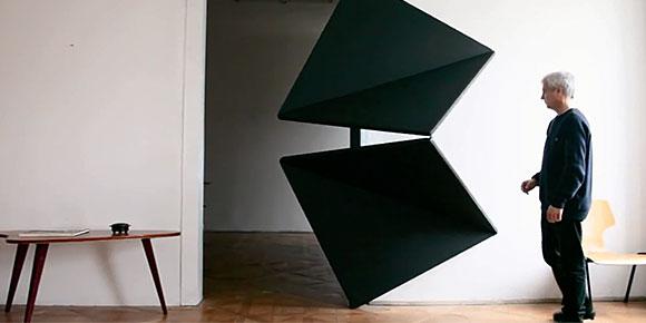 Austrian Artist Reinvents Door With Innovative 4 Folding