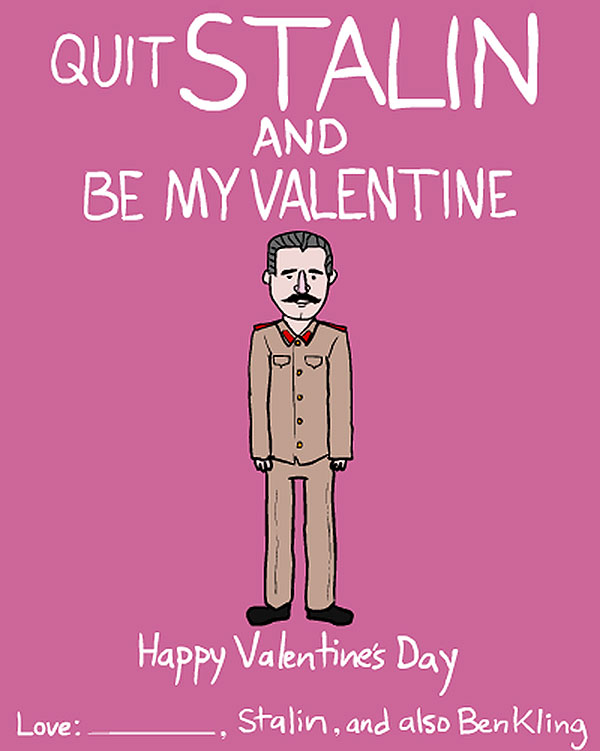 Famous People Valentine Cards