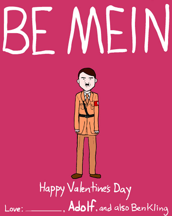 ThoughtProvoking Valentine Cards Featuring Dictators and Philosophers – Crazy Valentine Cards