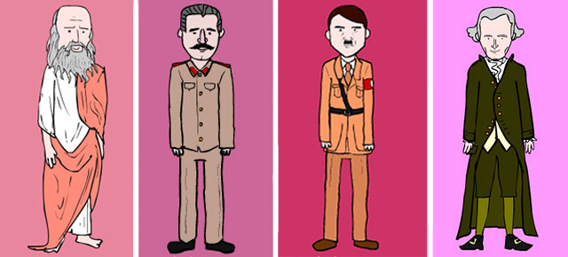 Thought Provoking Valentine Cards Featuring Dictators And Philosophers