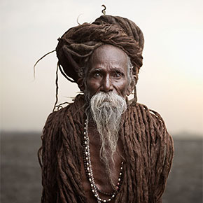 """Holy Men"" Of India In Divine Portrait Series By Joey L."