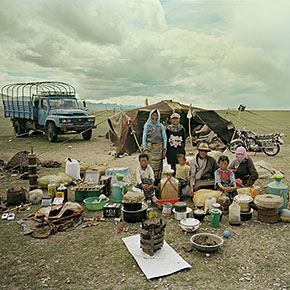 Chinese Families Demonstrate All Their Belongings In A Single Photo