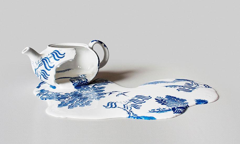 Melting Porcelain Art By Livia Marin