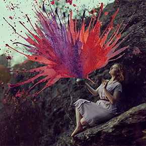 Artist Unites Watercolour And Photography In Her Extraordinary Self-Portraits