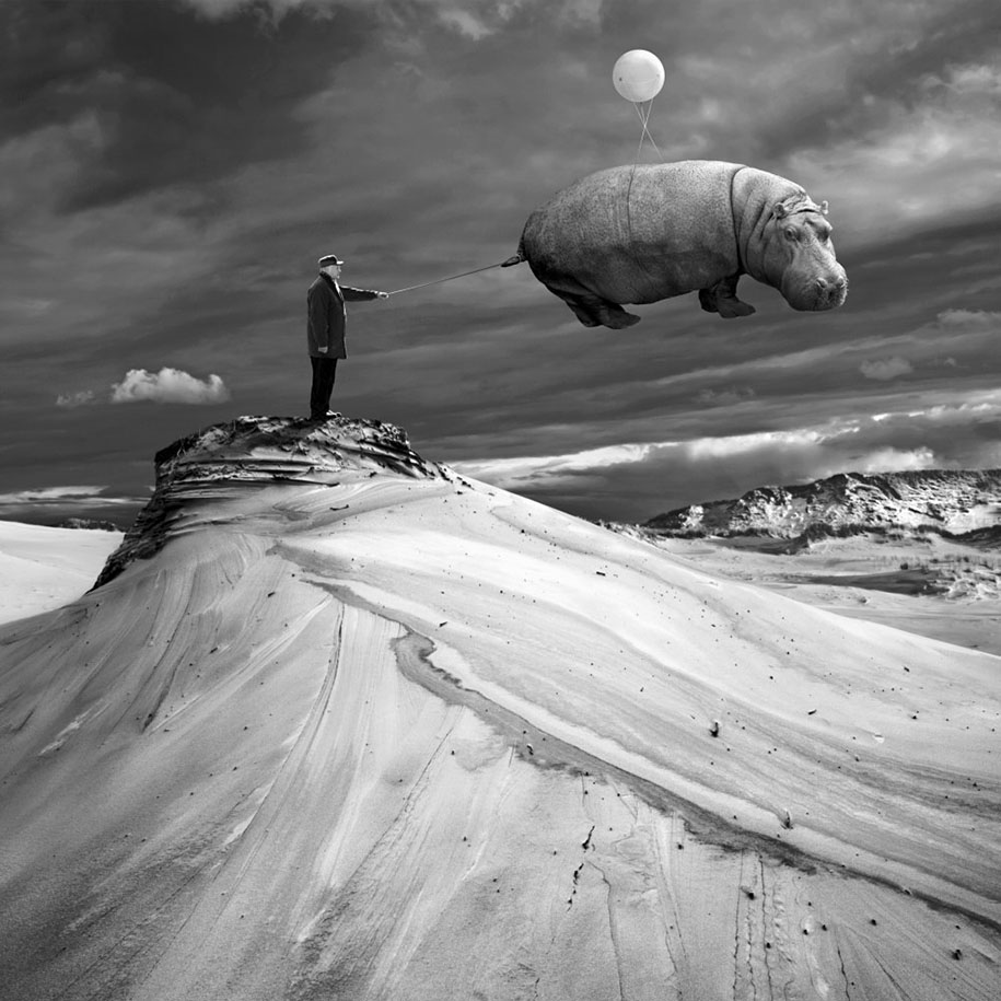 Weird Black And White Art : Surreal photo manipulation by photographer dariusz klimczak