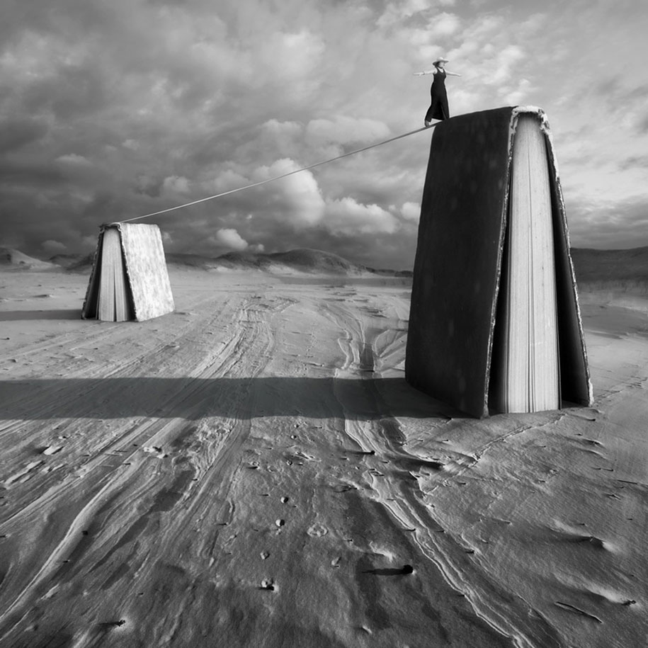 Surreal photo manipulation by photographer dariusz klimczak for Modern black and white photography