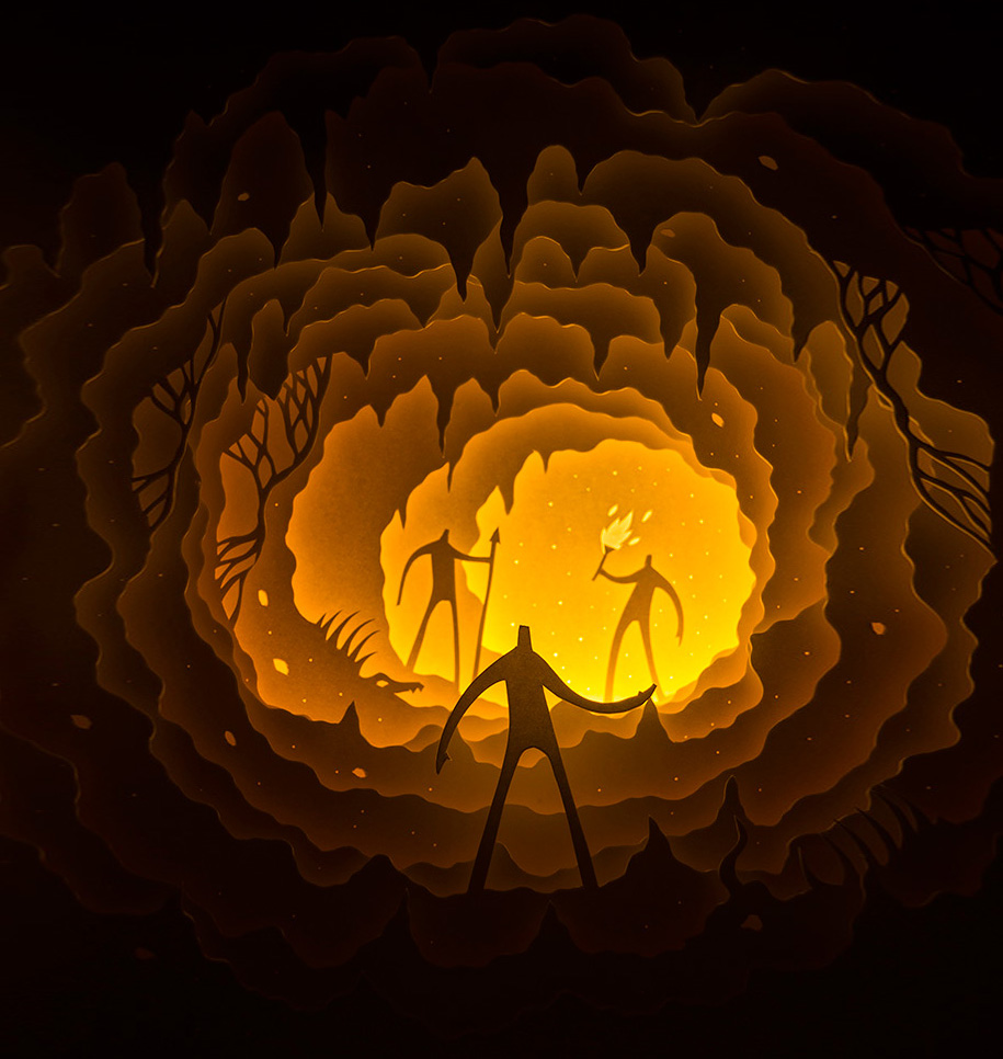 Magical Paper-Cut Light Boxes By Hari & Deepti