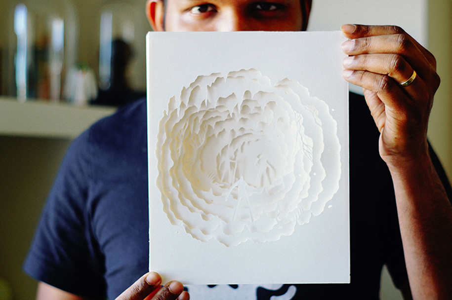 Magical Paper Cut Light Boxes By Hari Amp Deepti Demilked