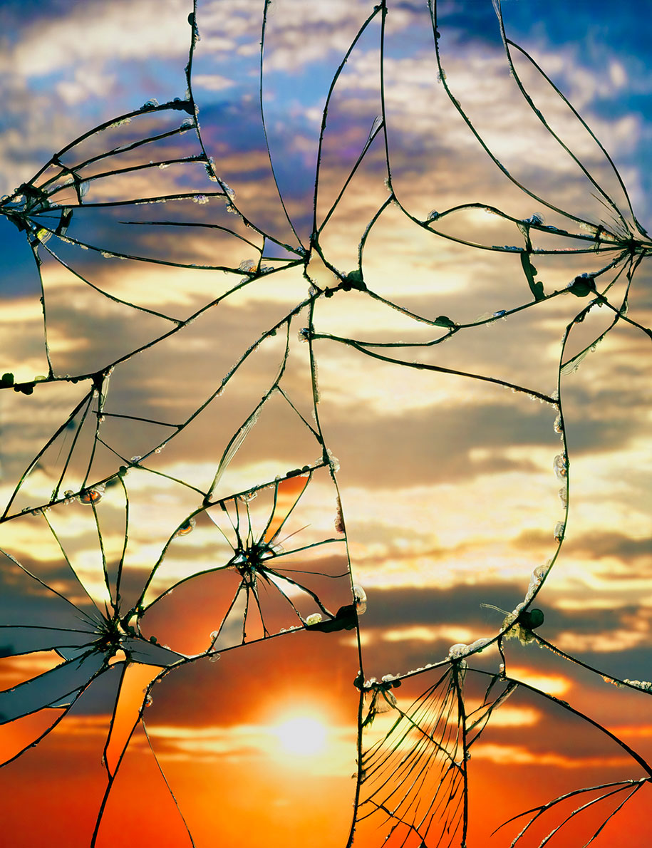 Sunsets Viewed Through A Shattered Mirror In Gorgeous Photography ...