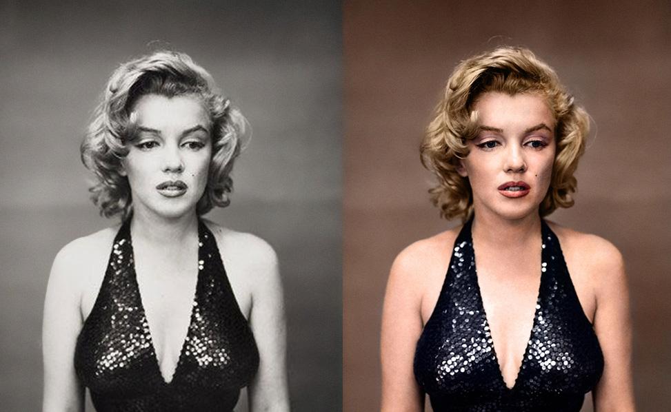 цветное фото в черно белое онлайн