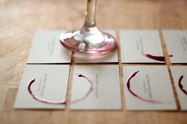30 of the most creative business card designs sommelire wineglass business card colourmoves