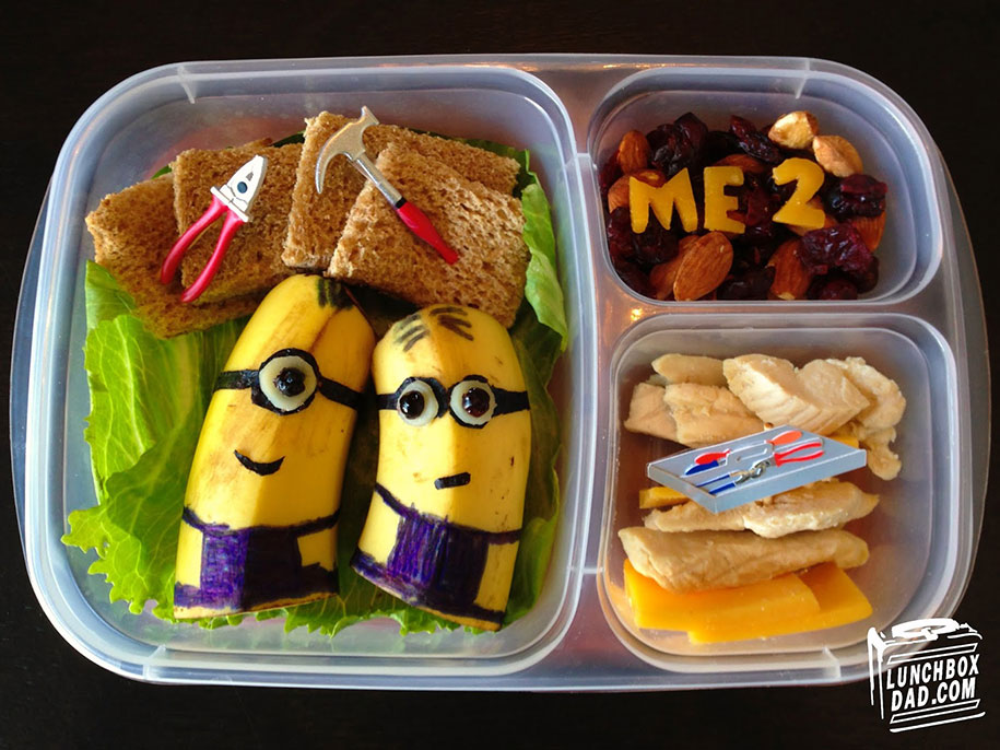"lunchbox dad"" creates impressive edible art for his little daughter"