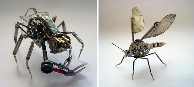Old Watch Parts Transformed Into Spine-Chilling Little