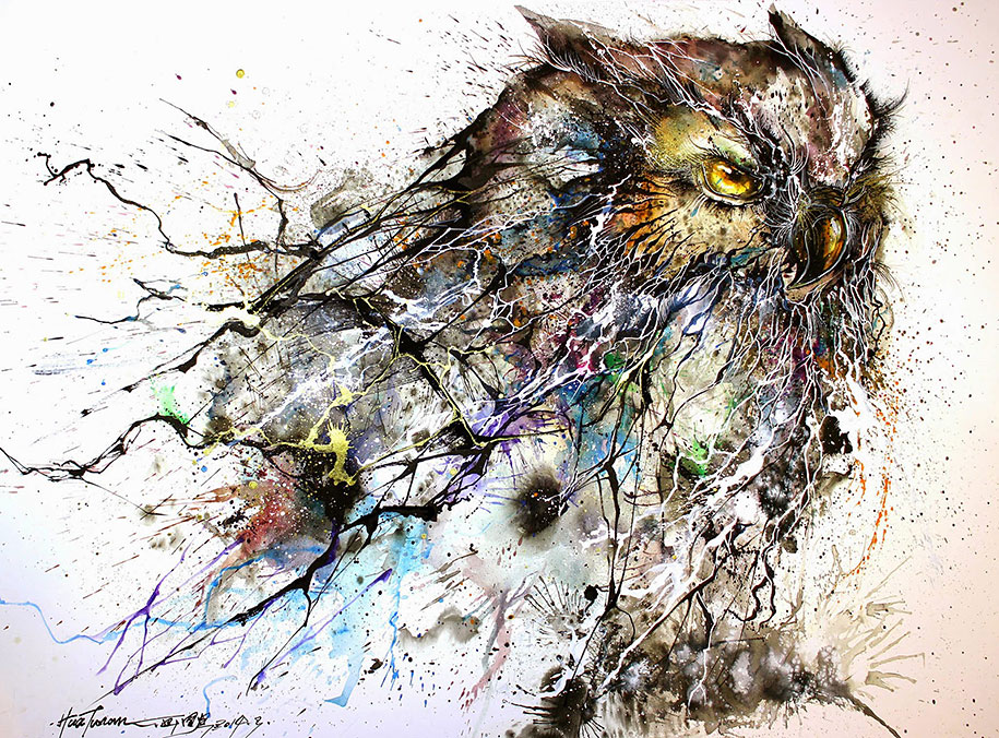 Stunning night owl illustration created with expressive for Night owl paint color