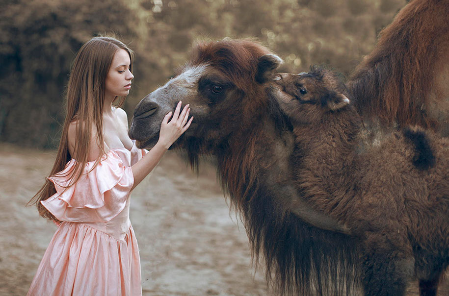 Real Animals Pose With Humans In Mystical Photographs By