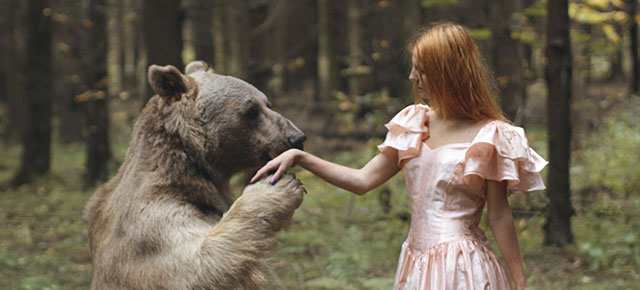 Real Animals Pose With Humans In Mystical Photographs By Katerina Plotnikova