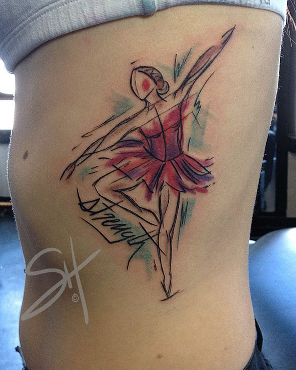 Artist creates beautiful tattoos that are anything but for Modern art tattoo