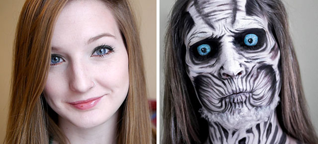 Self Taught Makeup Artist Turns Herself Into Evil Monsters