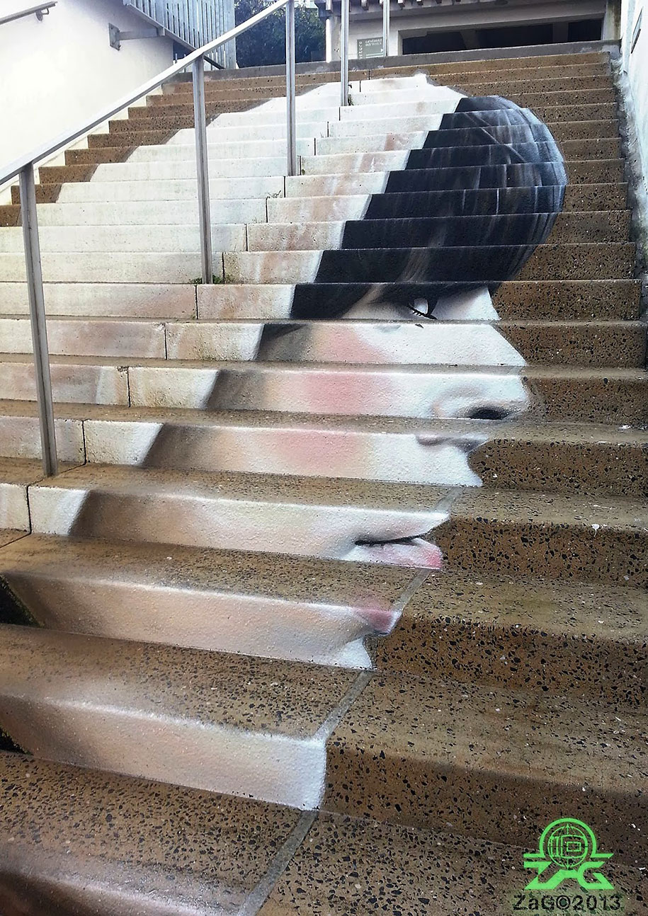 Stairs Painting Art