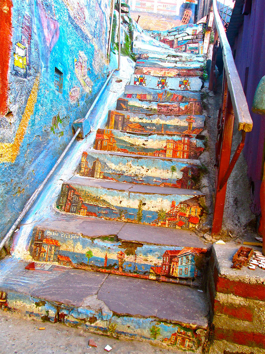 16 of the most colorful steps around the world for Beautiful creative art