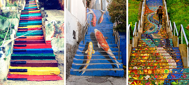 16 of the most colorful steps around the world for Art from around the world