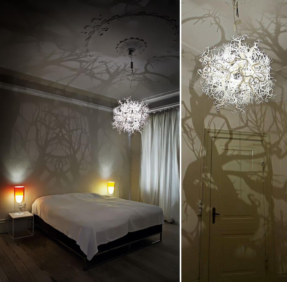 Diy Disine Interier: 21 DIY Lamps And Chandeliers Made Of Everyday Objects